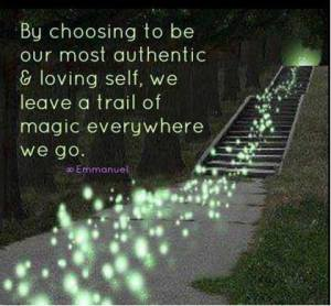 Leave a trail of magic